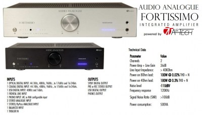 Audio Analogue Fortissimo IA by Airtech